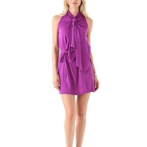"DVF ""Morana"" tie stretch silk dress in Orchid"